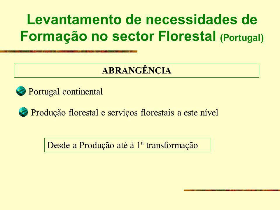 Levantamento de necessidades de Formação no sector Florestal (Portugal)