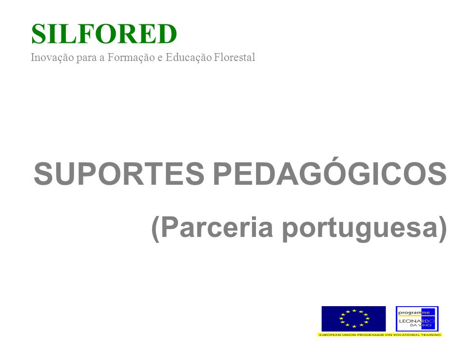 SILFORED Inovação para a Formação e Educação Florestal