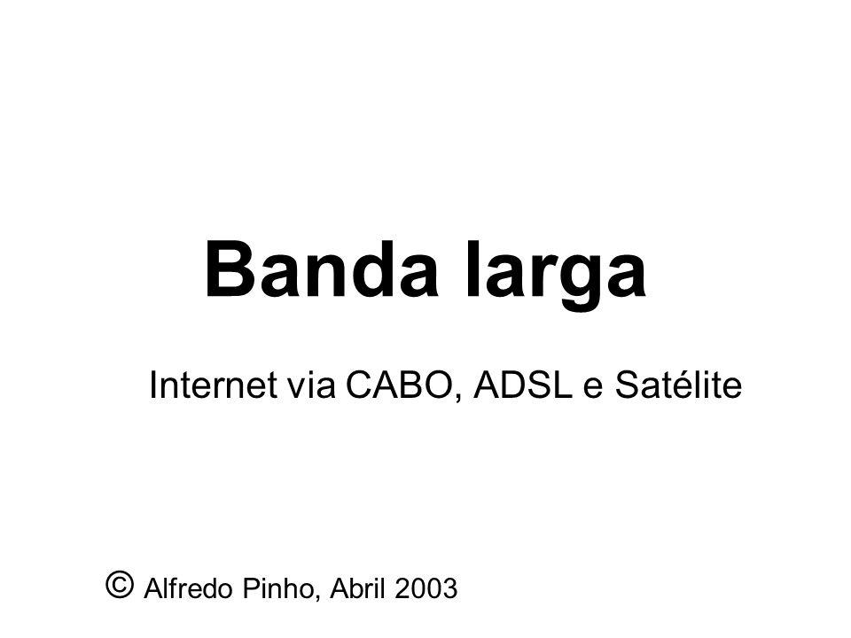 Internet via CABO, ADSL e Satélite © Alfredo Pinho, Abril 2003