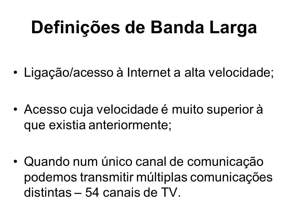 Definições de Banda Larga
