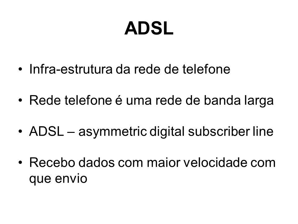 ADSL Infra-estrutura da rede de telefone
