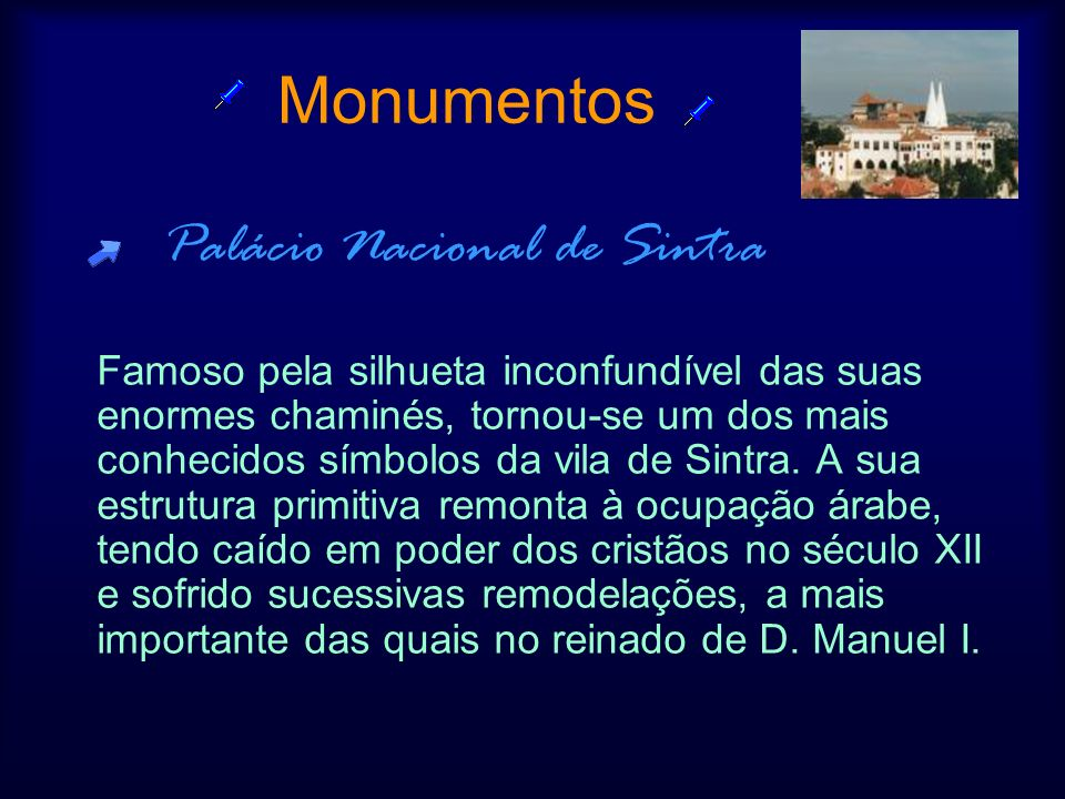 Monumentos Palácio Nacional de Sintra