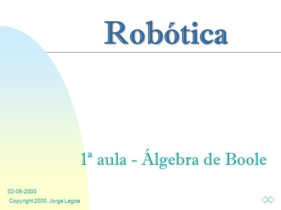 1ª aula - Álgebra de Boole