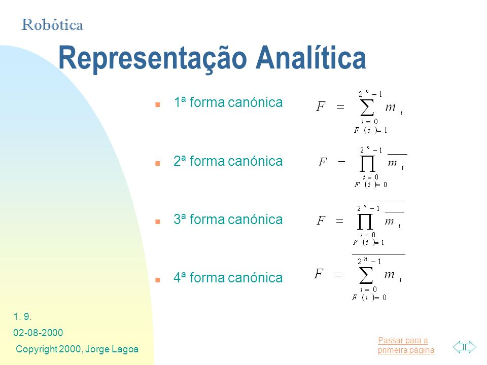 Representação Analítica