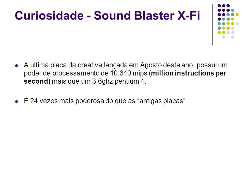 Curiosidade - Sound Blaster X-Fi