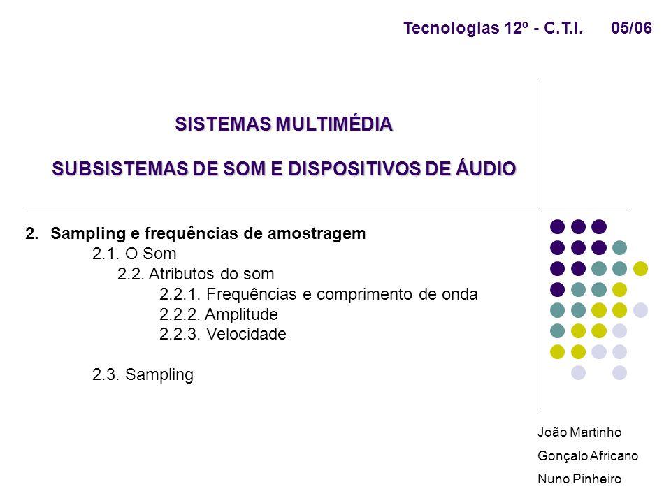 SUBSISTEMAS DE SOM E DISPOSITIVOS DE ÁUDIO