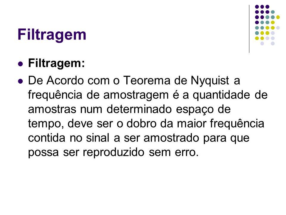 Filtragem Filtragem: