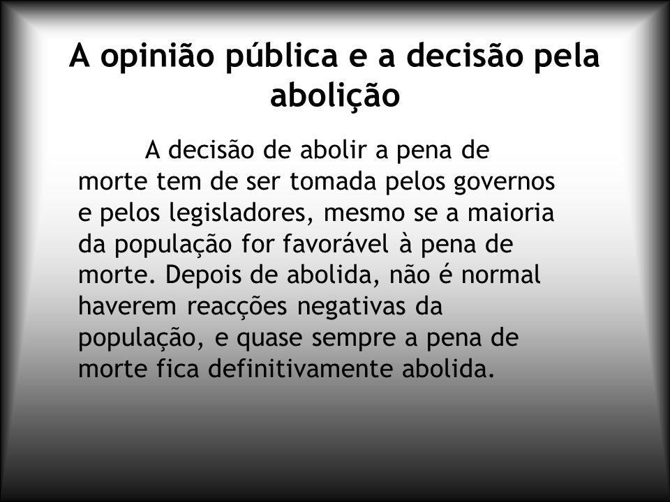 A opinião pública e a decisão pela abolição