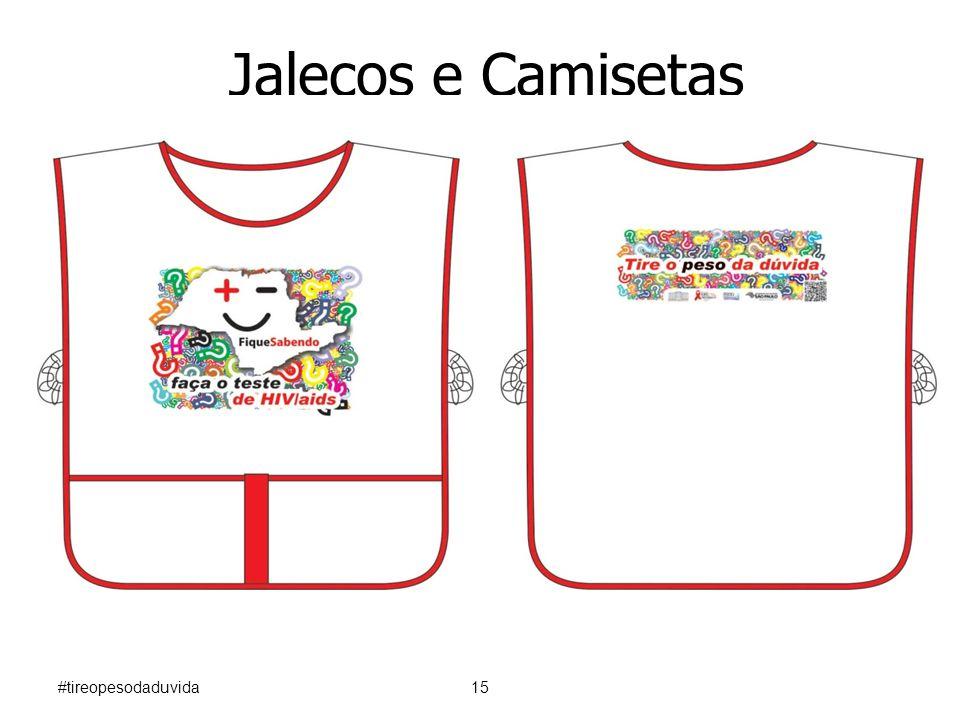 Jalecos e Camisetas #tireopesodaduvida