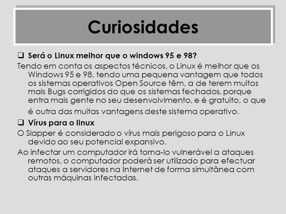 Curiosidades Será o Linux melhor que o windows 95 e 98