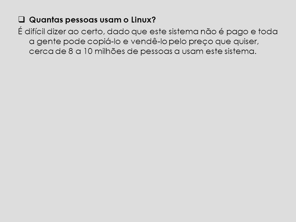 Quantas pessoas usam o Linux