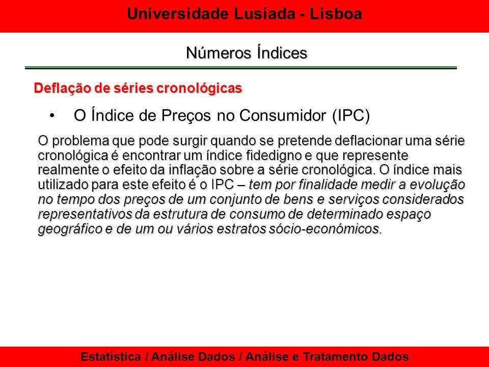 O Índice de Preços no Consumidor (IPC)