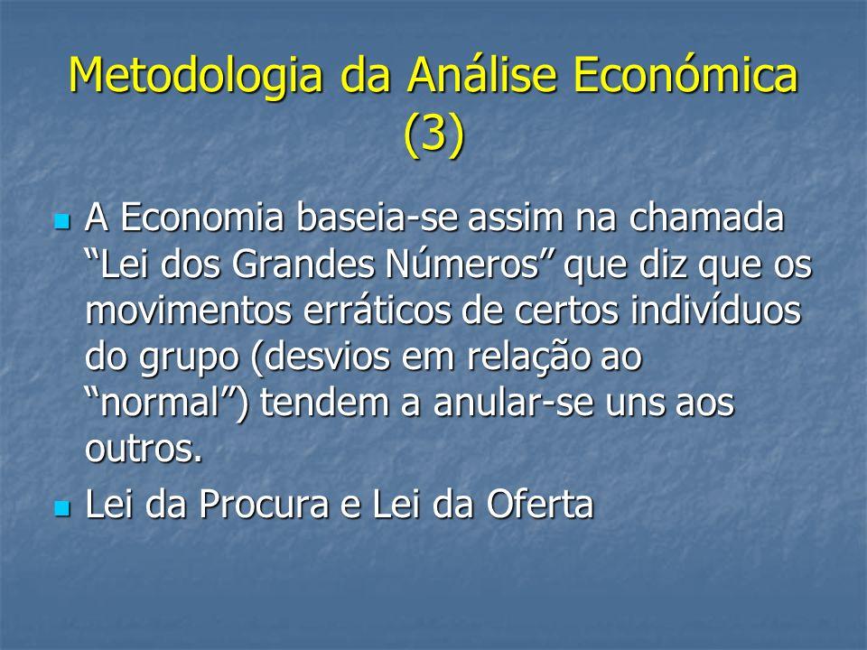 Metodologia da Análise Económica (3)