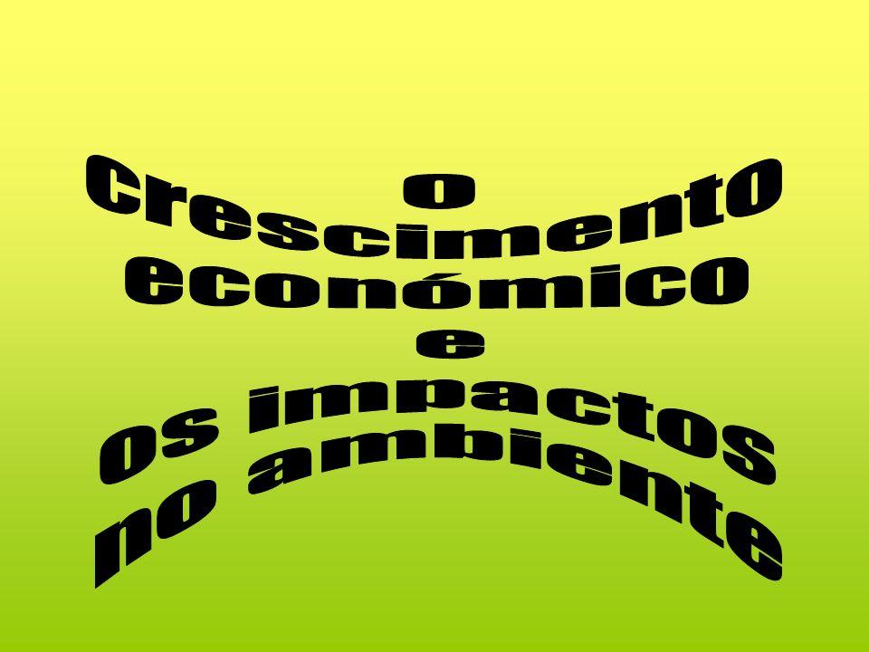 O crescimento económico e os impactos no ambiente