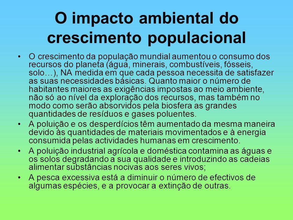 O impacto ambiental do crescimento populacional