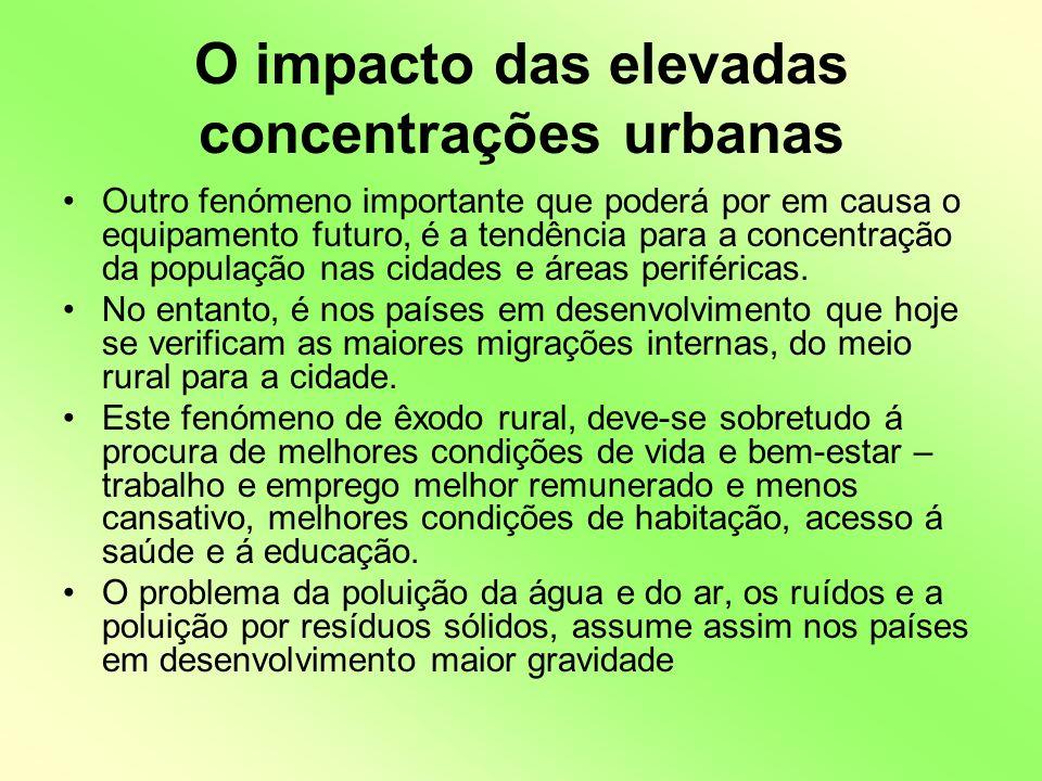 O impacto das elevadas concentrações urbanas