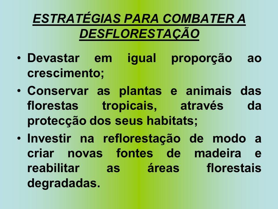 ESTRATÉGIAS PARA COMBATER A DESFLORESTAÇÃO
