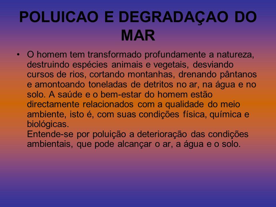 POLUICAO E DEGRADAÇAO DO MAR