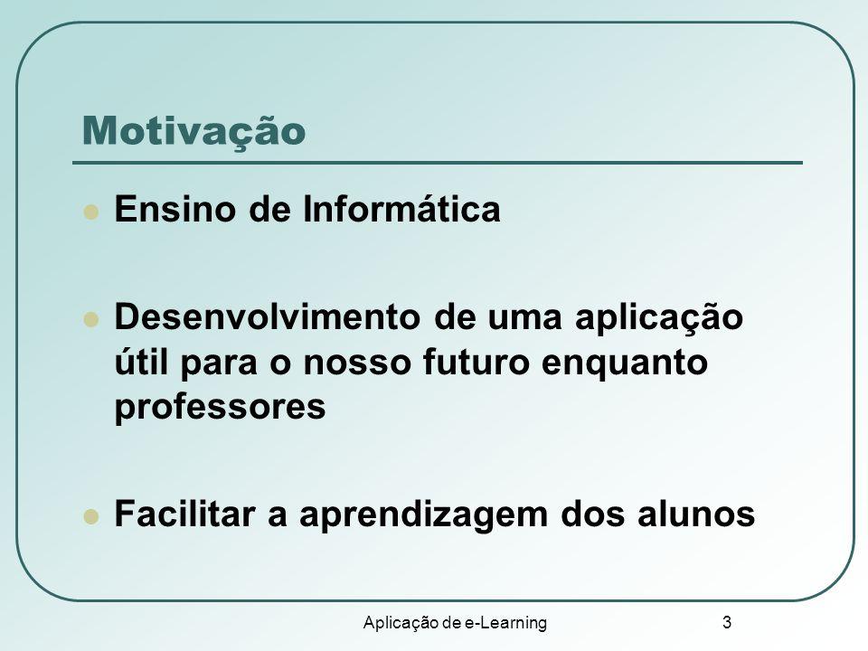 Aplicação de e-Learning