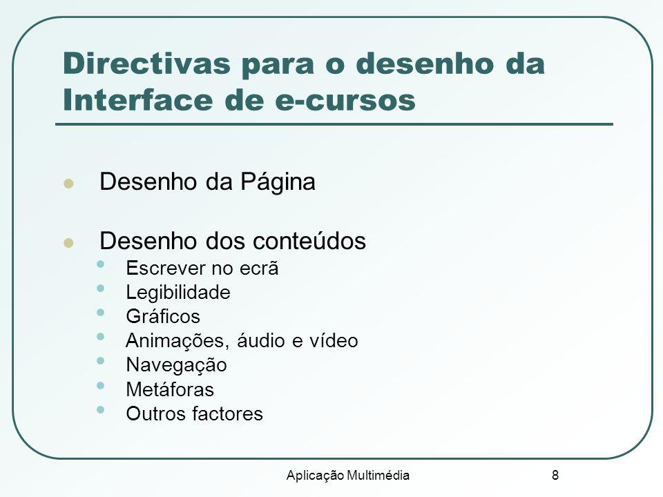 Directivas para o desenho da Interface de e-cursos