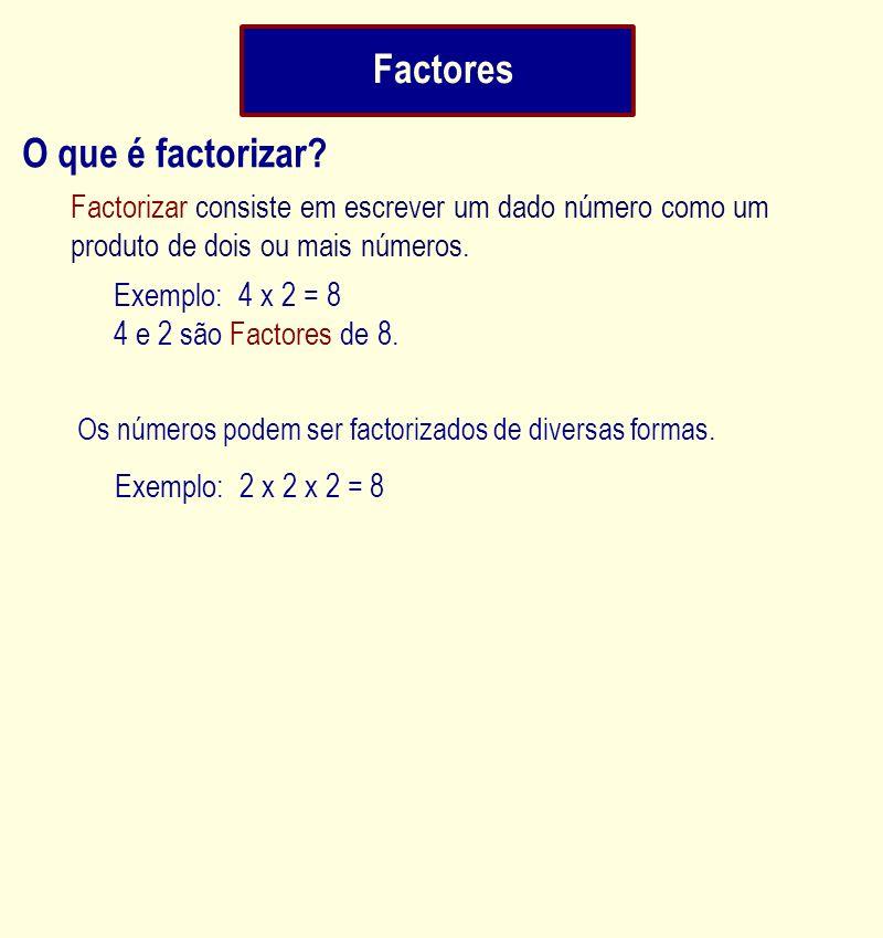 Factores O que é factorizar