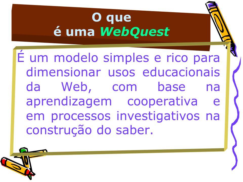 O que é uma WebQuest