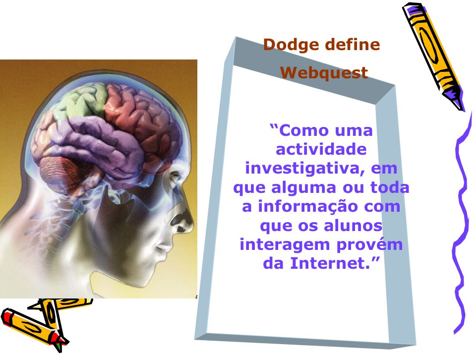 Dodge define Webquest.