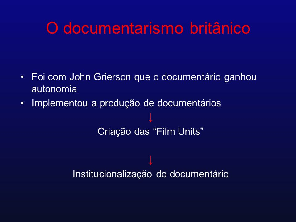 O documentarismo britânico