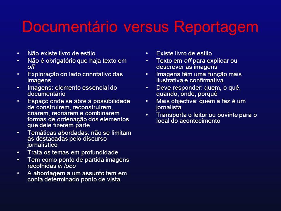 Documentário versus Reportagem