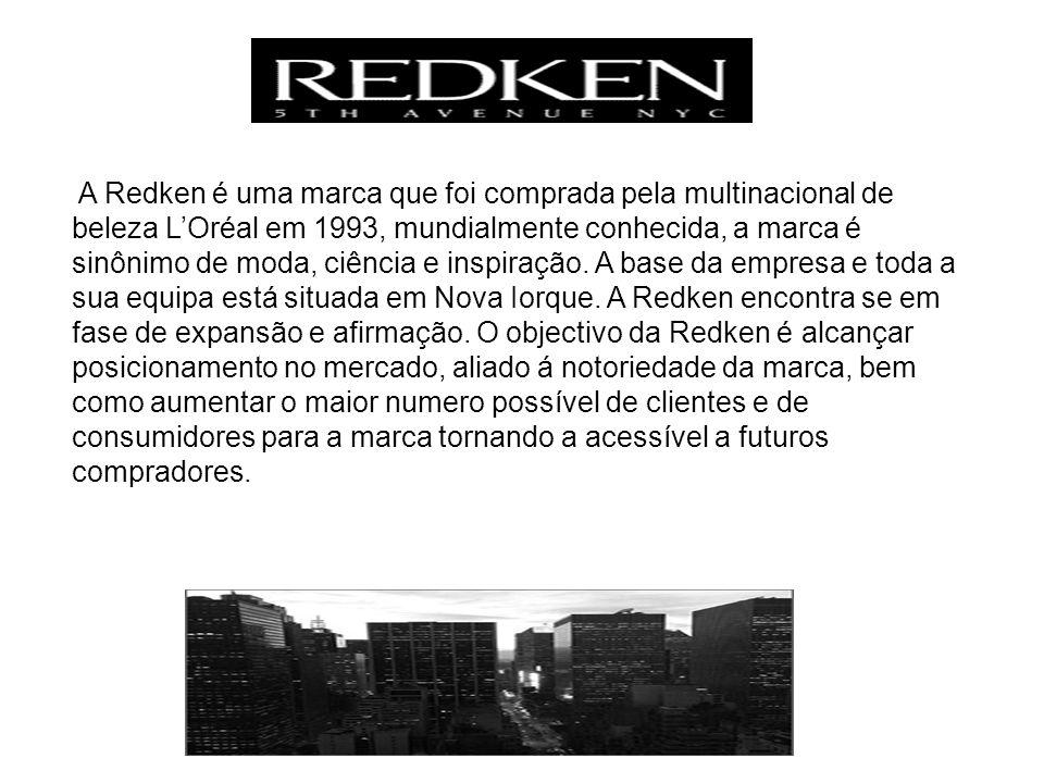 A Redken é uma marca que foi comprada pela multinacional de beleza L'Oréal em 1993, mundialmente conhecida, a marca é sinônimo de moda, ciência e inspiração.