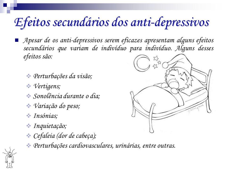 Efeitos secundários dos anti-depressivos
