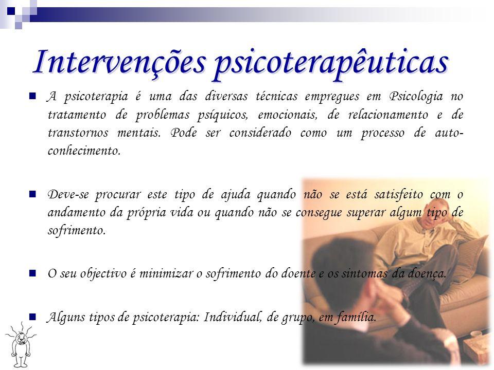 Intervenções psicoterapêuticas