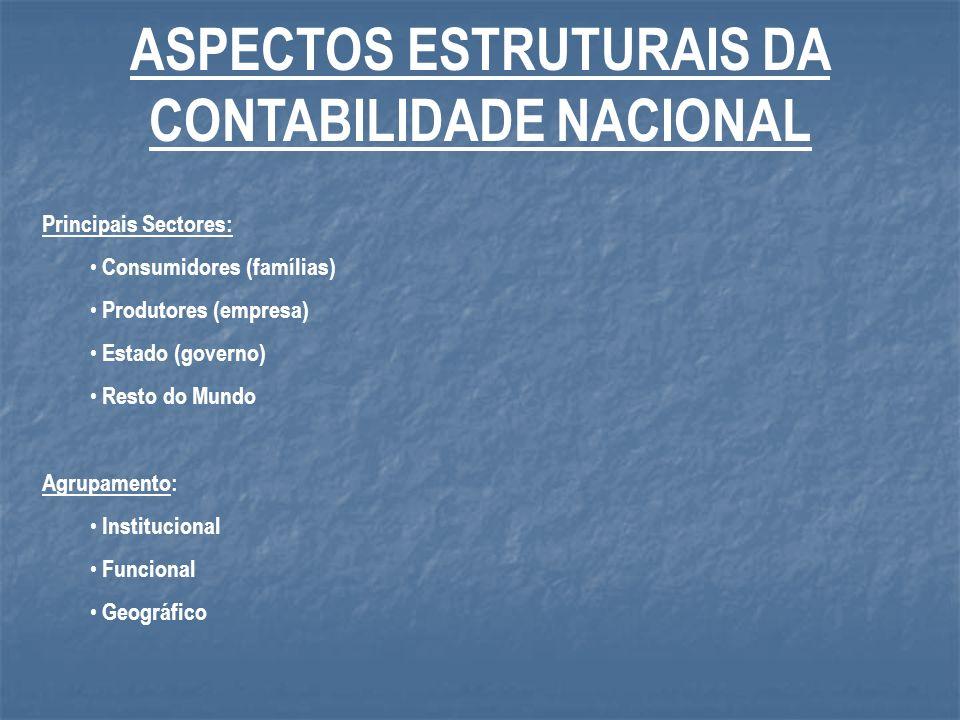 ASPECTOS ESTRUTURAIS DA CONTABILIDADE NACIONAL