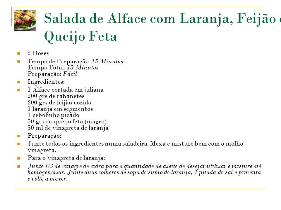 Salada de Alface com Laranja, Feijão e Queijo Feta