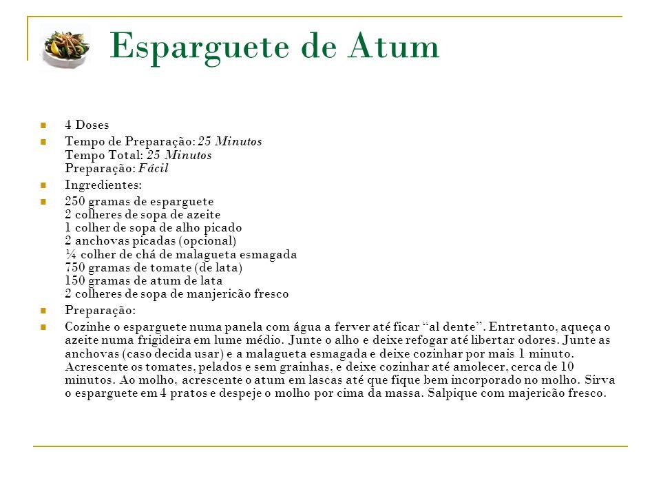 Esparguete de Atum 4 Doses