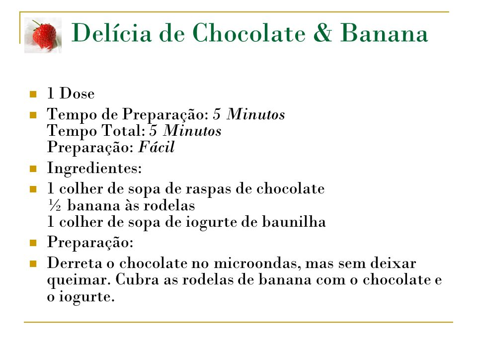 Delícia de Chocolate & Banana