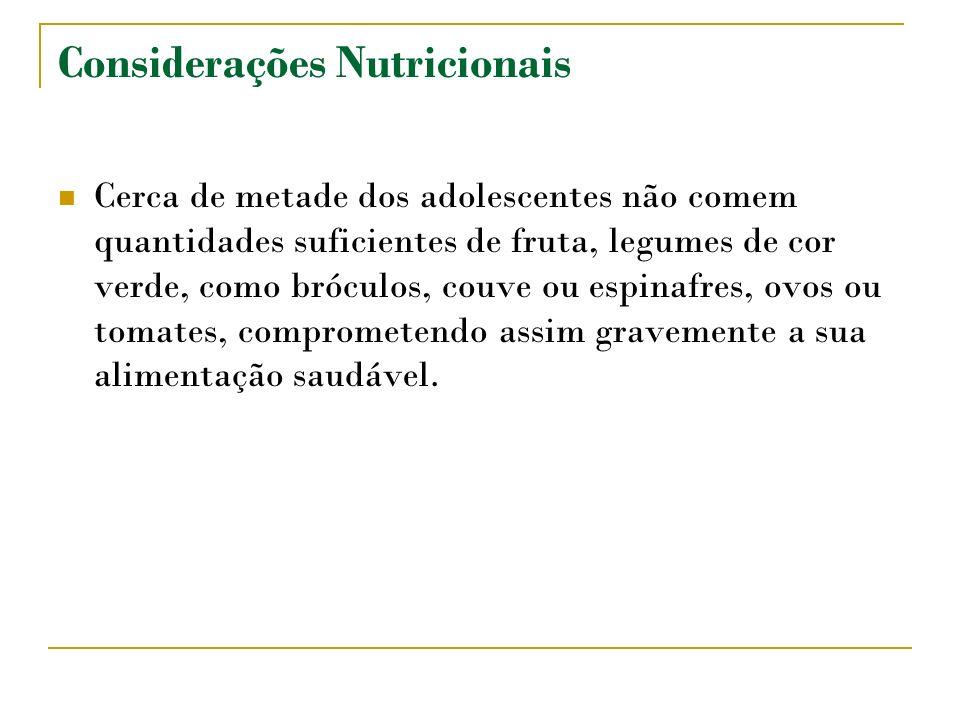 Considerações Nutricionais