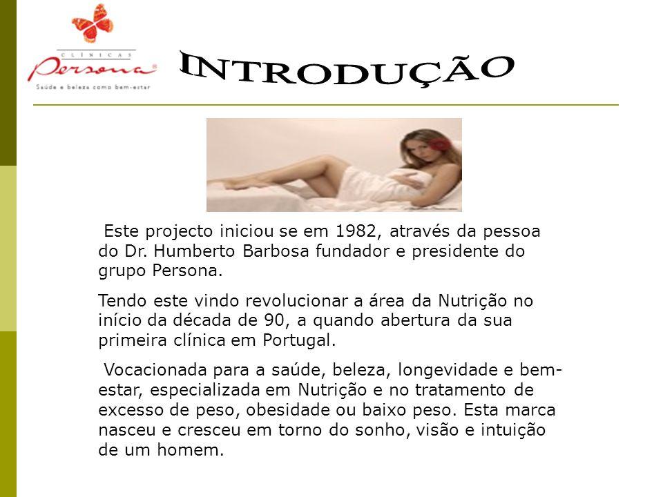 INTRODUÇÃO Este projecto iniciou se em 1982, através da pessoa do Dr. Humberto Barbosa fundador e presidente do grupo Persona.