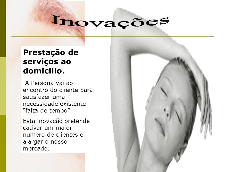 Inovações Prestação de serviços ao domicilio.