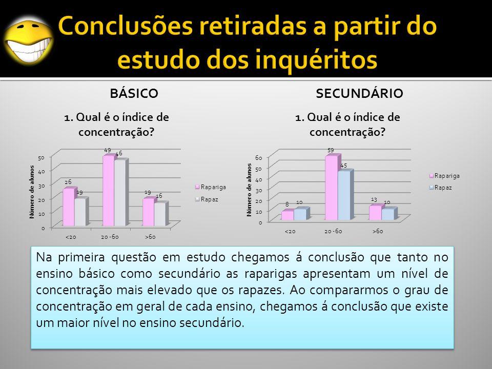 Conclusões retiradas a partir do estudo dos inquéritos