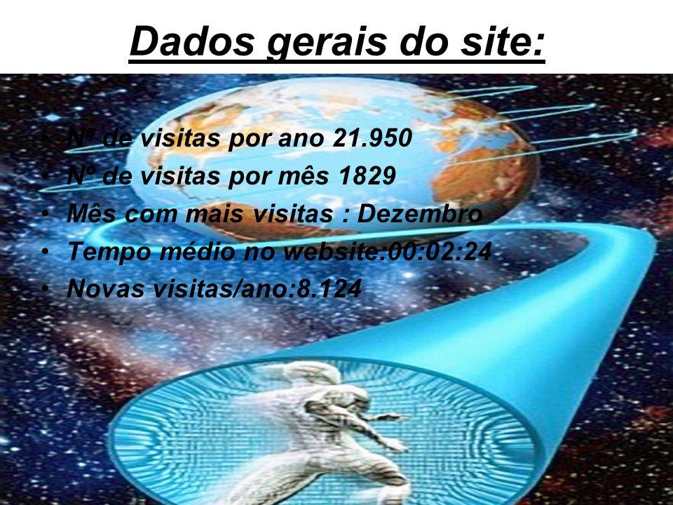 Dados gerais do site: Nº de visitas por ano 21.950