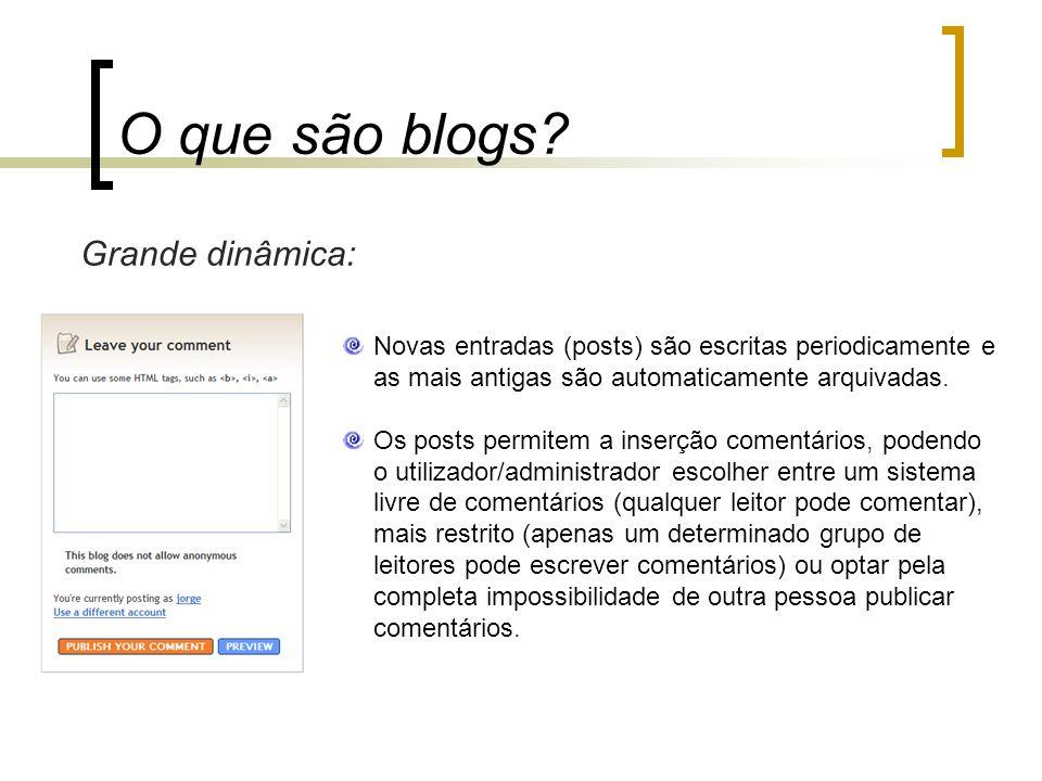 O que são blogs Grande dinâmica: