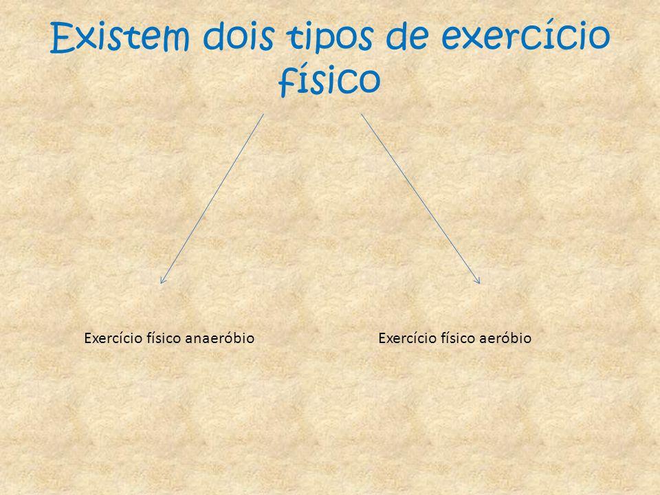 Existem dois tipos de exercício físico