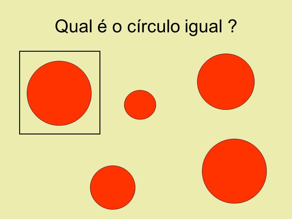 Qual é o círculo igual