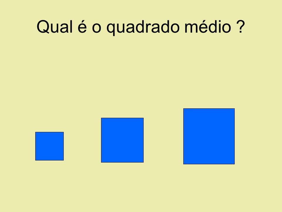 Qual é o quadrado médio