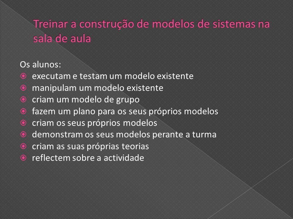 Treinar a construção de modelos de sistemas na sala de aula