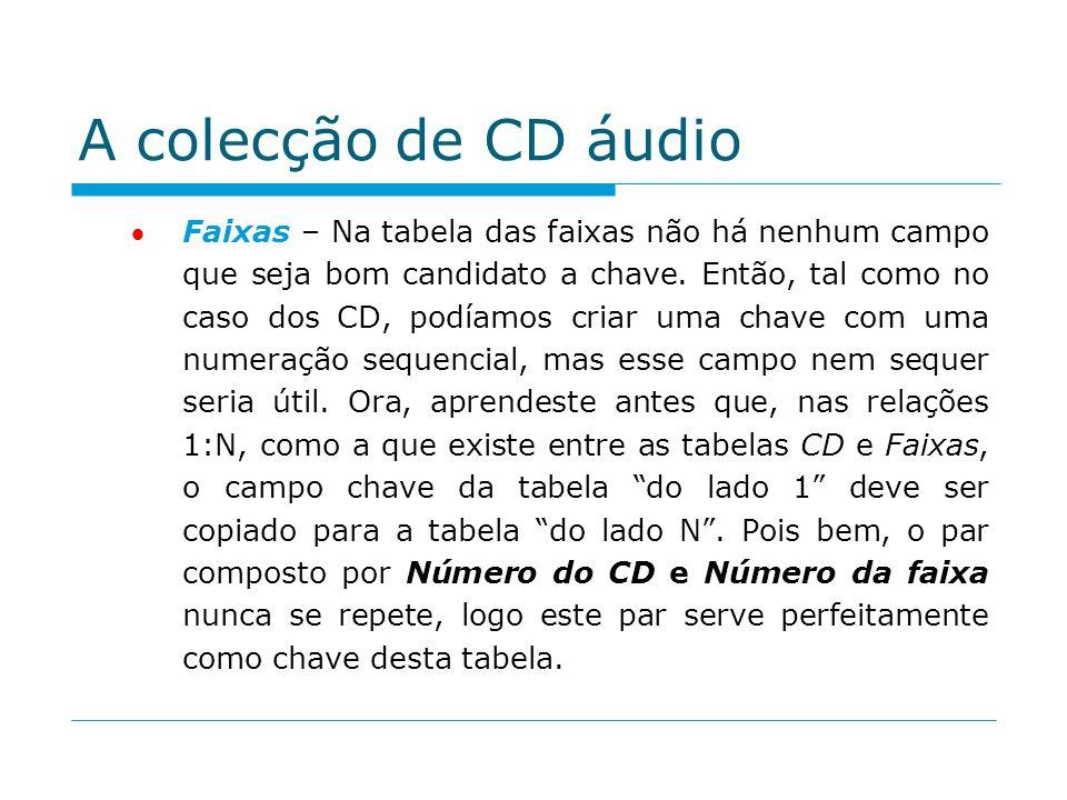A colecção de CD áudio