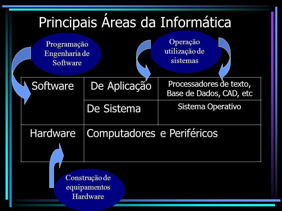 Principais Áreas da Informática