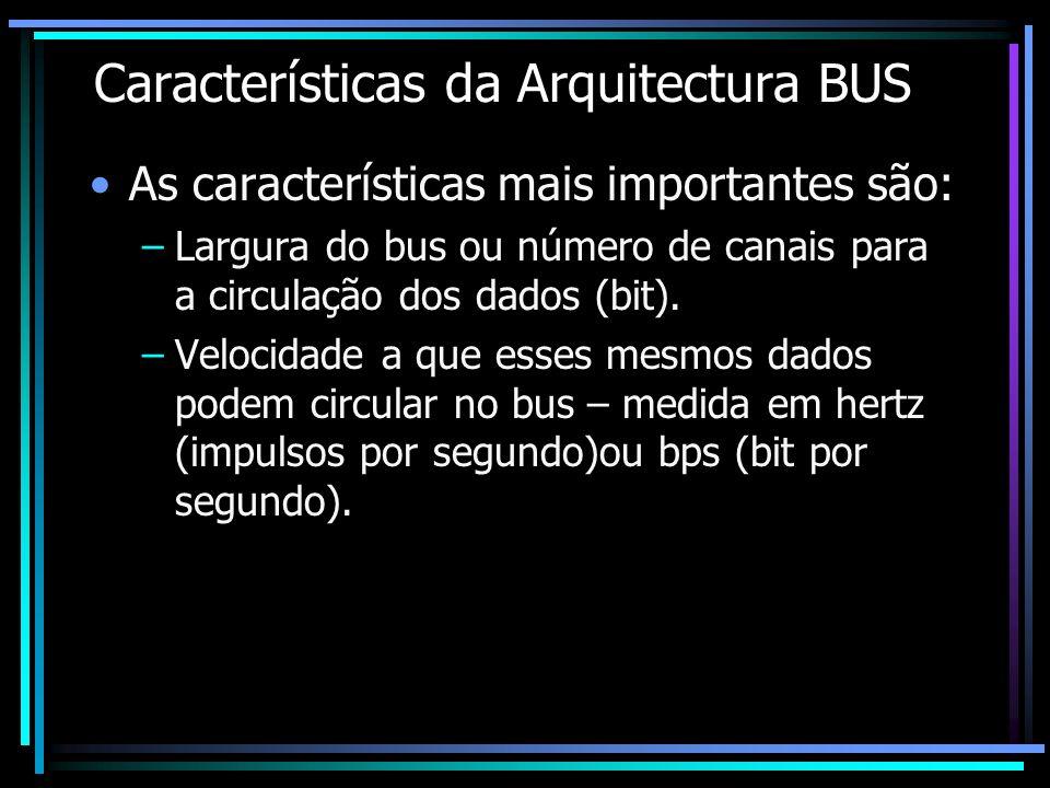 Características da Arquitectura BUS