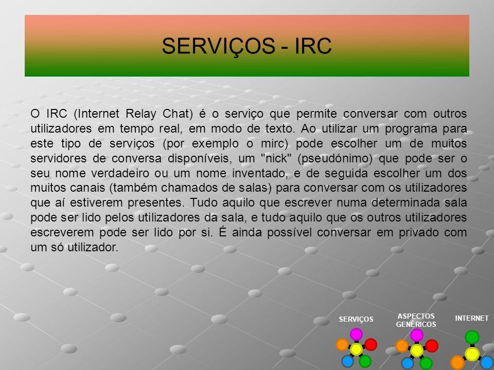 SERVIÇOS - IRC